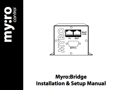 myro bridge manuals posted